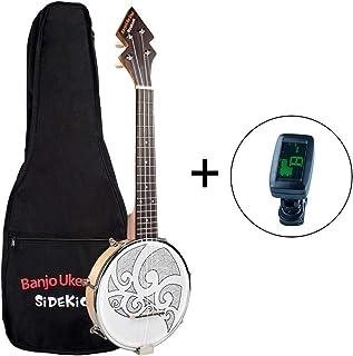 Muslady 26 pulgadas Banjo Banjolele Ukelele 4 Cuerdas Chapada en la Vendimia con Bolsa de Transporte Sintonizador Electrónico