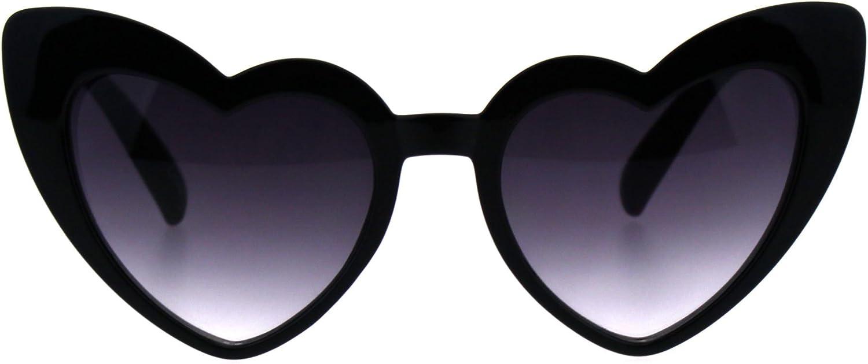 Bold Red, 52 80s Love Heart Shaped sunglasses Lolita Smoke Lens