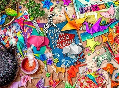 DINGQING Puzzle 500 Piezas para Adolescentes y Adultos Navidad - Puzzle Art of Origami - Puzzle Navideño