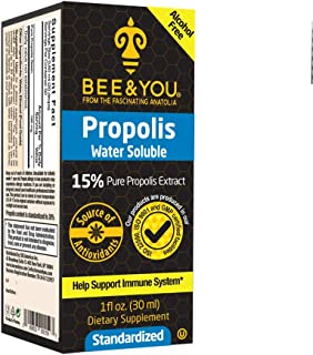 Bee and You 15% Pure Propolis Water Soluble Extract - High Potency - Zero Sugar - Zero Calorie - Natural Immune Support&So...