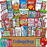 College Box Care Package (45 Count) Snacks Cookies Bars Chips Candy Ultimate Variety Gift Box Pack...