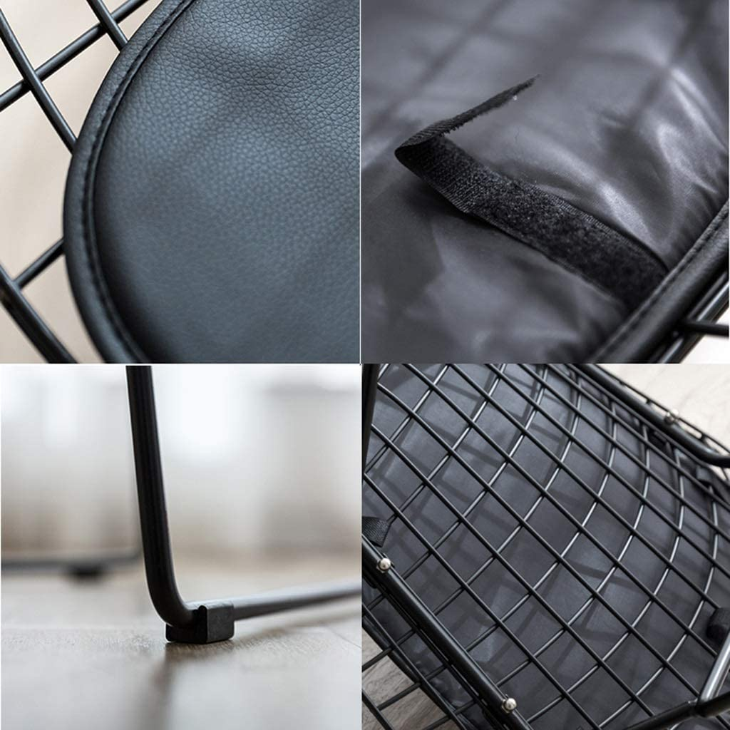 TONG YUE SHOP Chaise de Salle à Manger Moderne et Minimaliste en Fer de Style Nordique (Color : Pink) Black