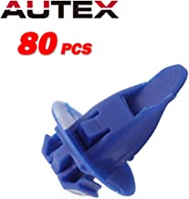 AUTEX 80x Car Retainer Clips Nylon Fender Bumper Fastener Auto Body Push Type Retainer Replacement for Toyota Lexus Fender Wheel Flare Moulding Clips