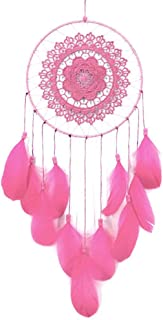 Handmade Lace Dream Catcher Feather Bead Hanging Decoration Ornament Gift