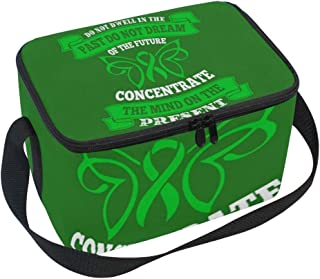 Insulated Lunch Box Lunch Bag with Liver Cancer Awareness Quote Print