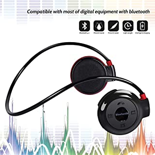 Running Headphones Neckband Sports Earphones Bluetooth Wireless Sports Headset Over-Ear earbuds with Sweatproof, Hi-Fi Stereo,Built-In Microphone 6 Hours Playtime Black