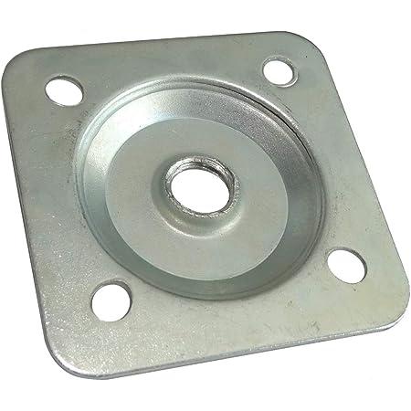 AERZETIX: 10x M10 47/47mm Placa Base Soporte para fijación Montaje Patas Ajustables de Muebles C42465