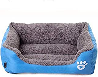 Mumoo Bear Candy Colour Square Kennel House Eco-friendly Dog Bed, Blue