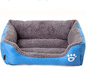 Mumoo Bear Candy Colour Square Kennel House Eco-friendly Dog Bed, Blue, Large, mb-b02