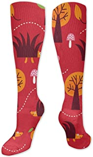 Uosliks, Calcetines largos Diseño de tela para niños Calcetines hasta la rodilla unisex Calcetines largos y largos