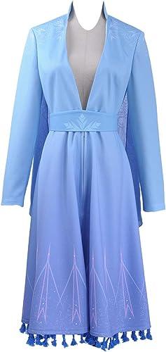 barato en alta calidad Frozen 2 2 2 Elsa - Disfraz de Halloween para Cosplay, Color azul  alta calidad