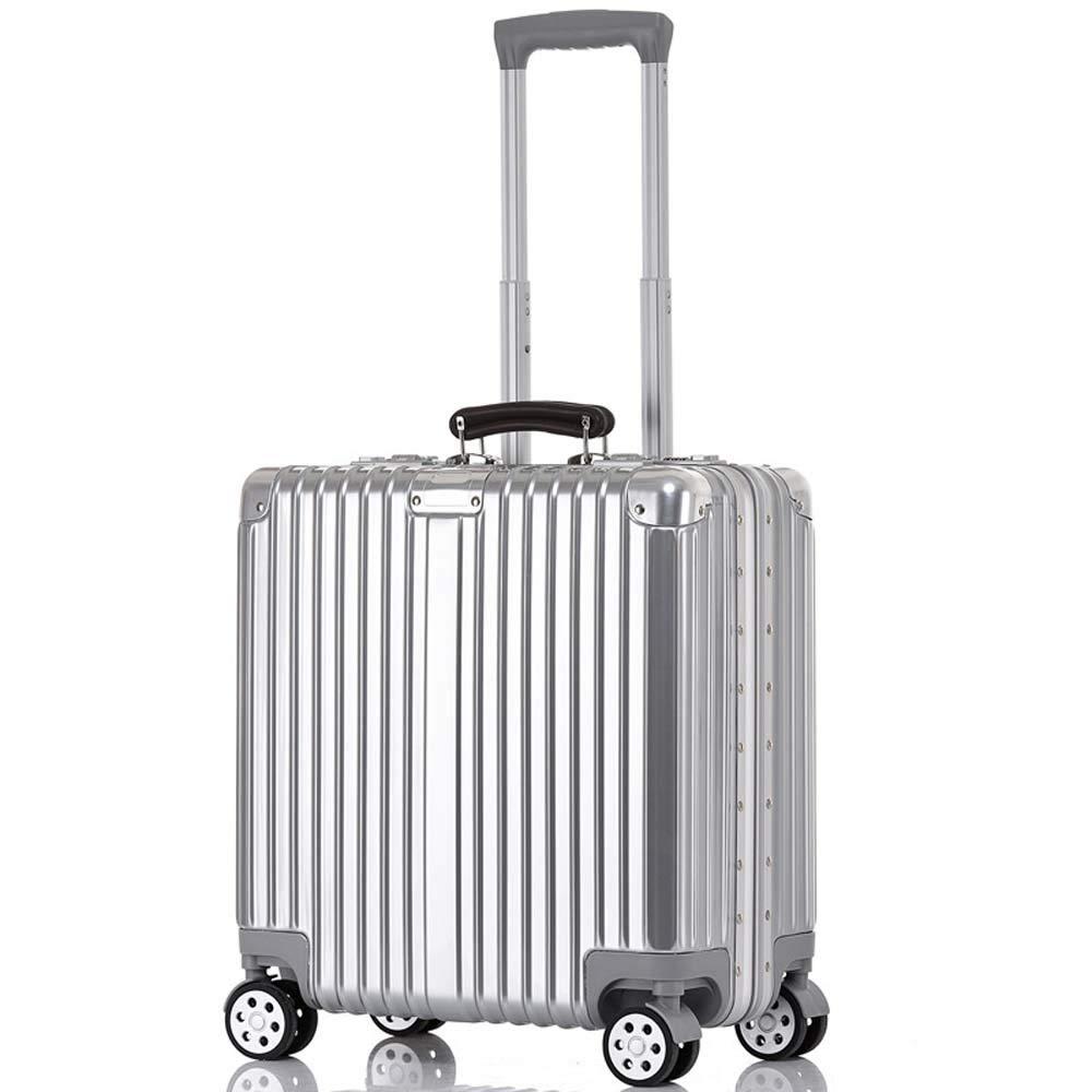 GYFH Maletas,Funda de Aluminio con Ruedas universales con Marco de Aluminio ABS + PC Mango de Cuero de 17 Pulgadas Estuche de Aluminio con Marco Equipaje-17inches-silver: Amazon.es: Hogar