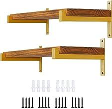 Plankdrager, 35 cm planksteun van ijzer wandrek houder retro wandconsole plankhouder zware belasting voor wandrek goederen...