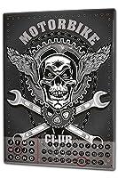 カレンダー Perpetual Calendar Motorcycle Garage Motorcycle Club Tin Metal Magnetic