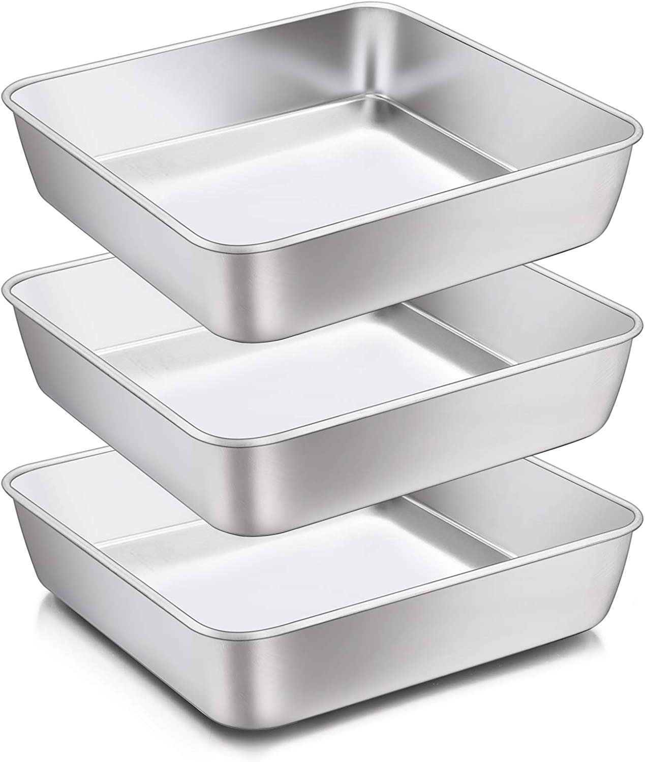 8 Super beauty product restock quality top! x 8-Inch Baking Pan E-far Square Brownie Pans Sta Cake Atlanta Mall