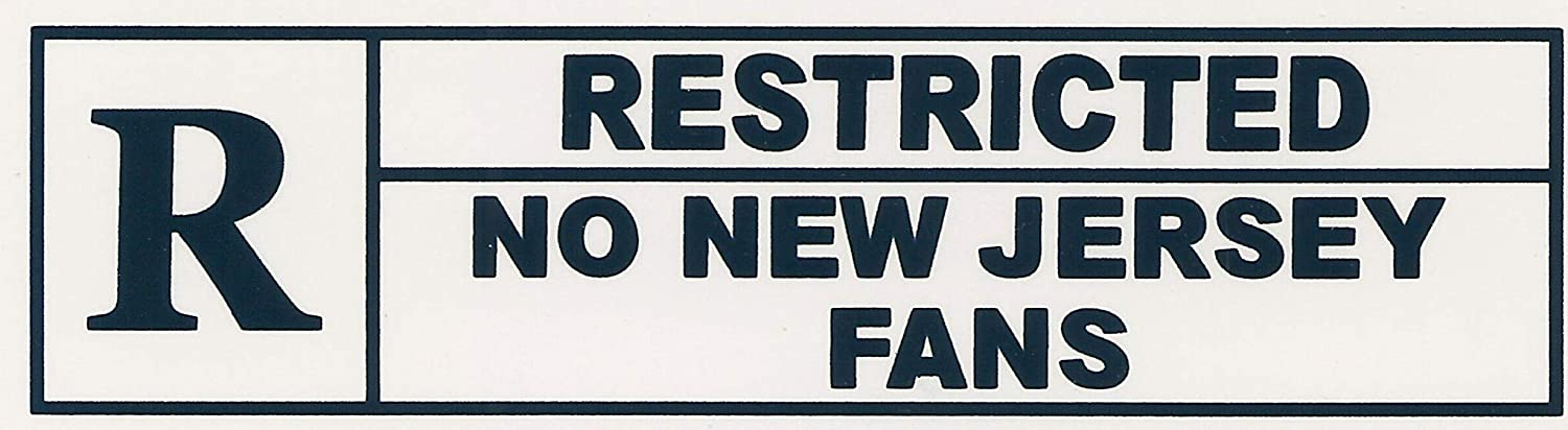 Restricted No New Jersey Fans. Refrigerator Funny Magnet. Flexib Max 52% OFF specialty shop
