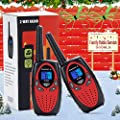 Bobela kids walkie talkies, Funny and Novelty Birthday Gifts for 3,4,5,6,7,8,9,10,11 Years Old Boy and Girls,Easter Gift, Simple Button and Easy to Use(M880 Red,2 Pack) by Bobela