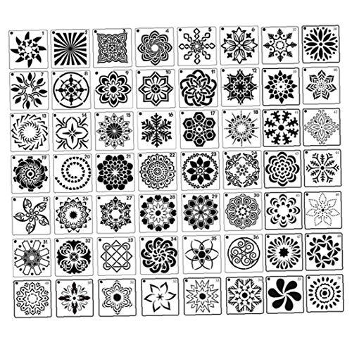 lulongyansf Malerei Stencil Blumen-Schablone Schablone Hohle Marokkanische Wandschablone DIY dekorative Wände Möbel Crafts 56PCSCraft Sammlung