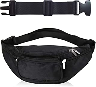 Fanny Pack for Men Women Waist Bag Adjustable Belt Large Capacity Waist Pouch with 5 Pockets for Hiking Cycling Running Training