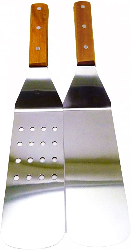 Turner Grill Spatula Set Of 2 14 Inch Long Solid Stainless Steel New BBQ