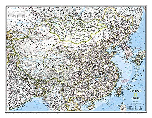 China Classic, Laminated: Wall Maps Countries & Regions