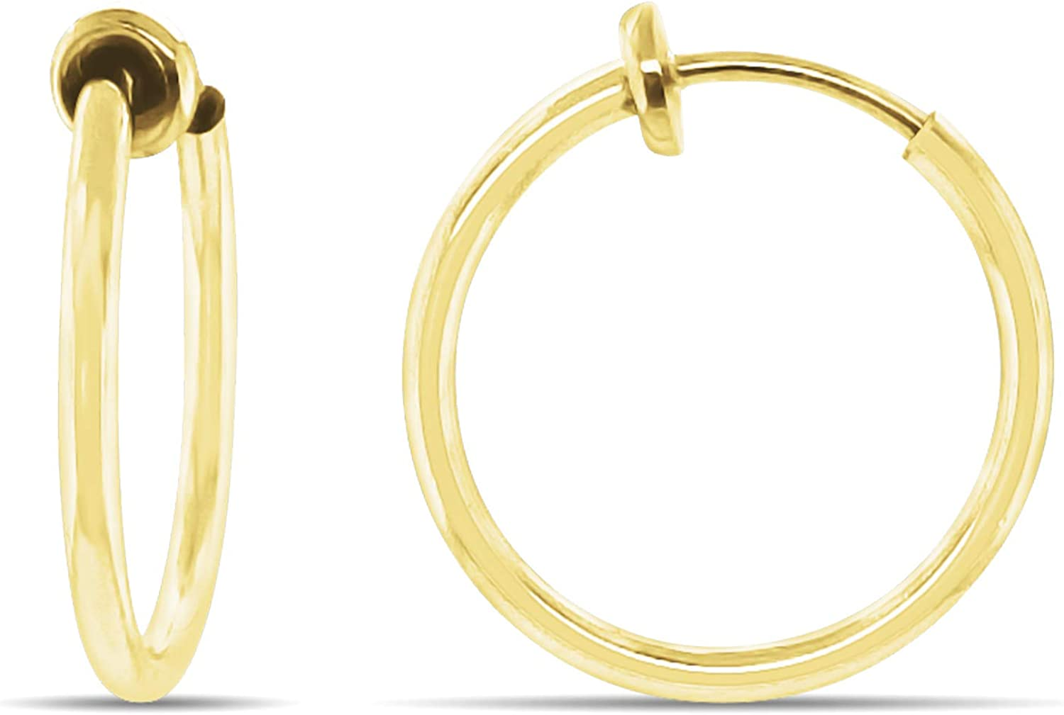 Aloha Earrings Washington Mall - Clip On Hoop Silver Women for safety Go and
