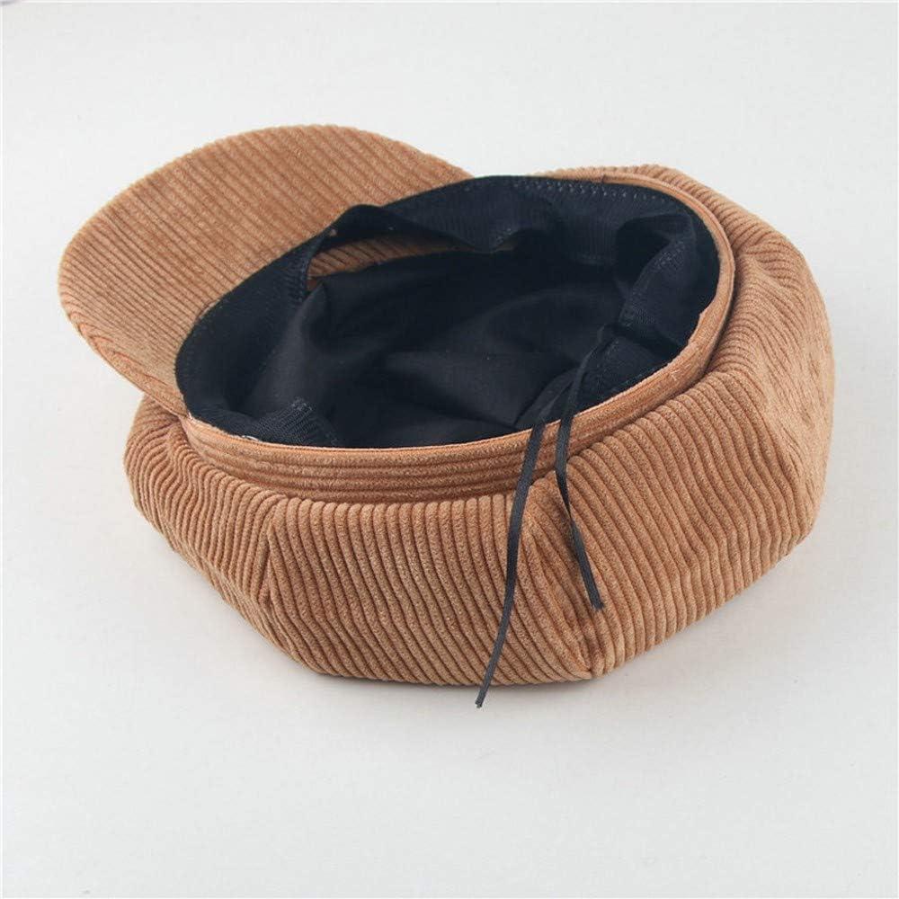 Gorra Casual Vintage Sombrero ni/ños ni/ñas Beret Nuevo oto/ño Invierno Gorra de Pana en Color s/ólido Sombrero c/ómodo Transpirable Gorro Moda Sombrero de Pintor