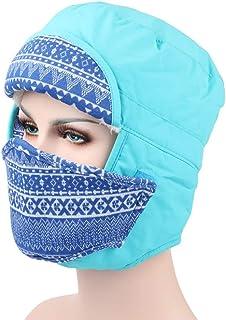 XXIAZHI,Hombres y Mujeres Invierno Sombrero Caliente al Aire Libre Sombrero a Prueba de Viento Gorra de Nieve Sombrero Caliente