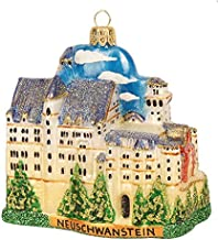 Neuschwanstein Castle Bavaria Germany King Ludwig II Travel Souvenir Polish Glass Christmas Ornament