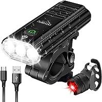 CHYBFU Cykelljus fram, uppladdningsbar USB-cykelljus med 1 800 lumen, 5 lägen, IPX6 vattentäta LED-cykellampor,...
