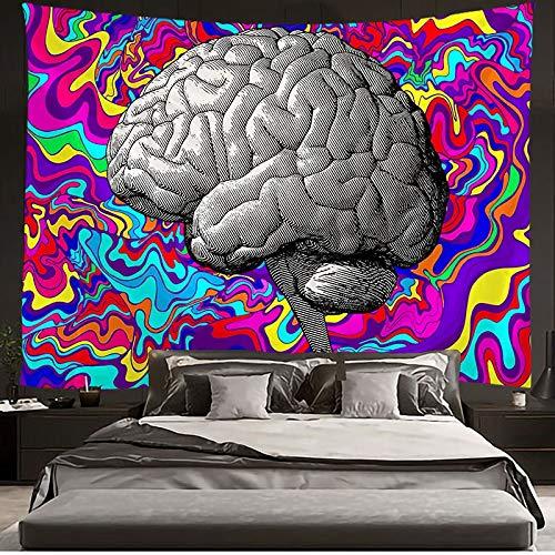 JXWR Cerebro Bomba de Tapiz Flor Tapiz Colgante de Pared Sala de Estar Dormitorio Dormitorio decoración del hogar 150x130