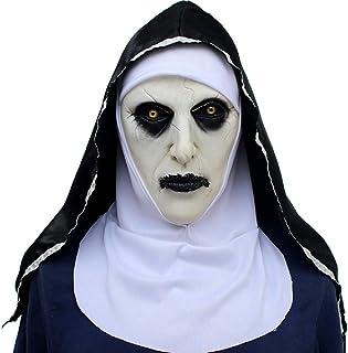 NECHARI Halloween Mask Creepy Haunted House Prop Bloody Zombie Face Trick Cosplay Costume