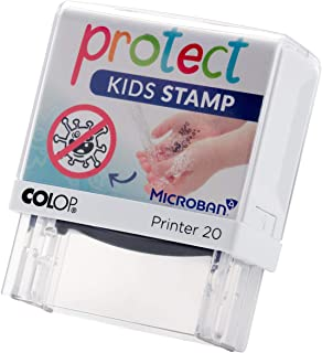 Protect Kids Tampon à Imprimer pour Enfants - Aide au Lavage des Mains avec Motif Lavable