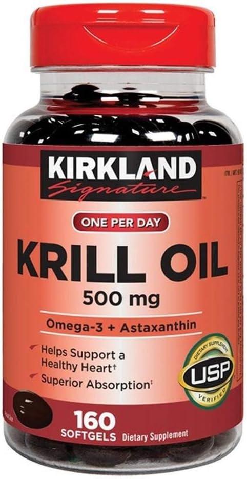 Kirkland Signature Expect Molre Krill mg Oil Softgels 500 160 Fashionable Sale item