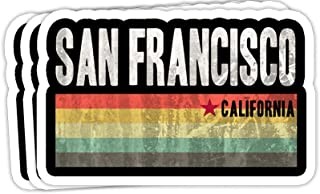 DKISEE Bumper Stickers Decal San Francisco California SWEA California Republic Gift Decorations - 4 inches Vinyl Stickers,...