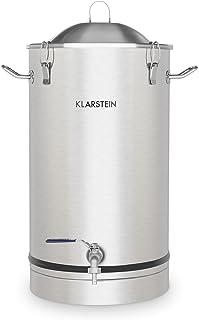 KLARSTEIN Maischfest - cuve de Fermentation, kit de Brassage, Acier 304, Fermentation du vin et de la bière, 30 litres de ...
