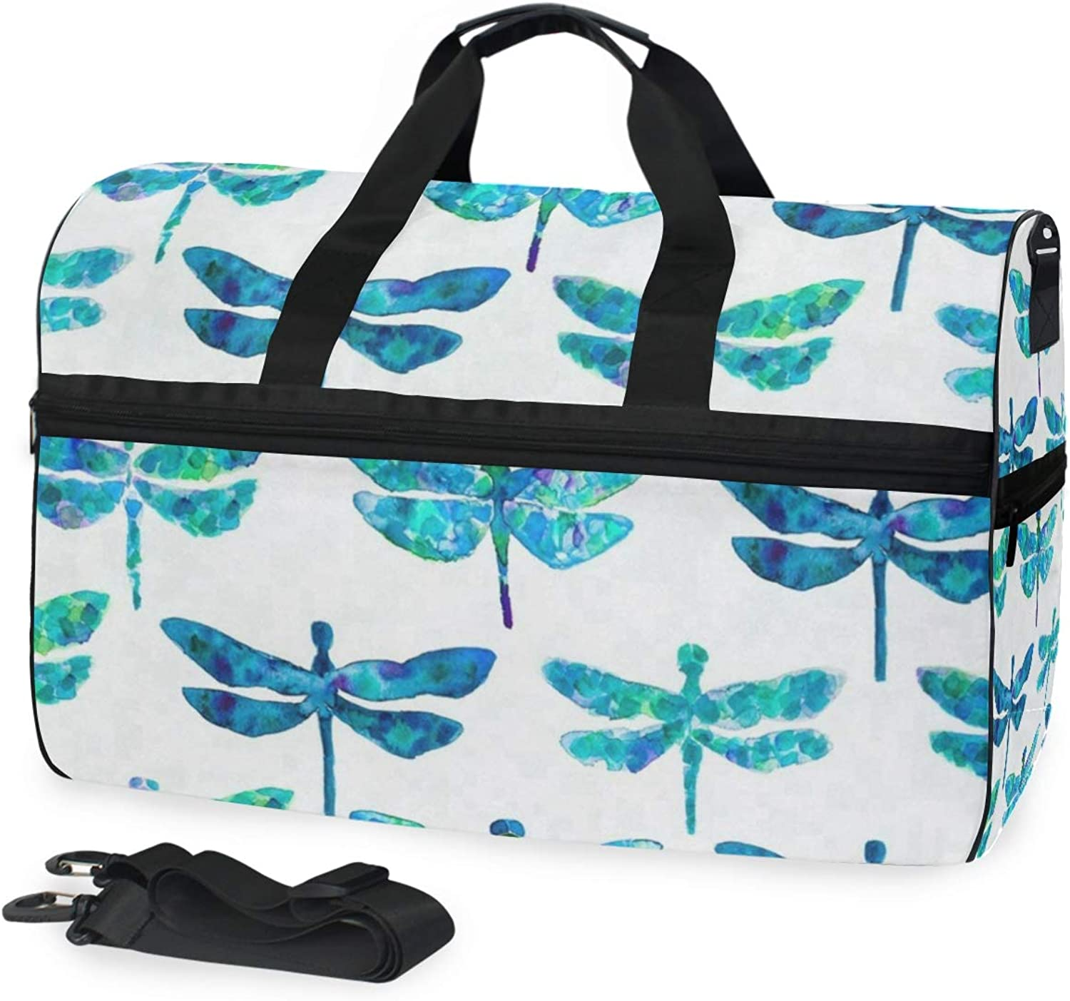 3b8d62aaa93913 Watercolor Butterflies Sports Gym Bag with shoes Compartment Travel Duffel  Bag for Men Women norvcr4718-Sporting goods