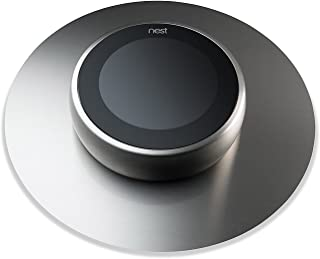 NEST Thermostat Wall Plate Cover, NOT PLASTIC! HIGHEST QUALITY - MADE IN THE USA - Brushed Stainless Steel 6 inch backdrop for all Nest Thermostats. Beautiful & Stylish by The Nest Décor