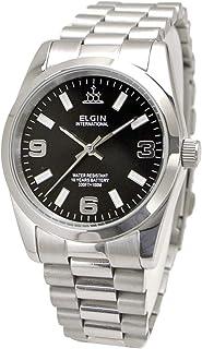 【国内正規品】ELGIN エルジン 腕時計 メンズ 10年電池搭載 ブラック文字盤 FK1421S-B