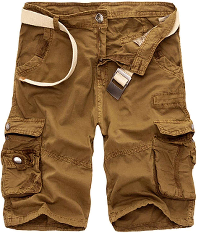 B dressy Camouflage Camo Cargo Shorts Men New Casual Loose Work Man Military Short Pants Plus Size 29-44-DarkYellow-40