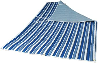 Algoma 2951-135142 Quilted Hammock Pad, Tropical Palm Stripe/Blue/Norway Powder Blue