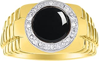 Black Onyx & Diamond Ring set in Solid 14K Yellow Gold. Natural Onyx Special Cut for this Ring. Role X Design