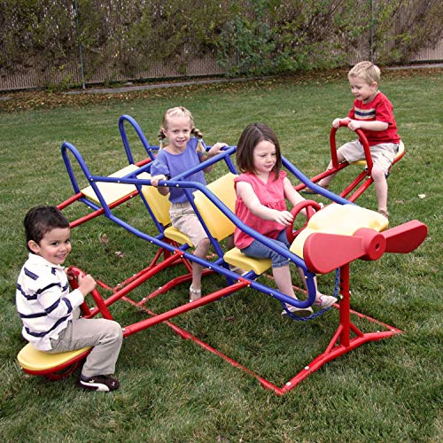 Lifetime Ace Flyer Multi-color Airplane Outdoor Teeter-totter - Red