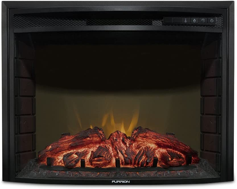 """Furrion 26"""" Curved Glass Electric Fireplace"""