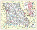 """Cool Owl Maps Missouri State Wall Map Poster Large Print Rolled 30""""Wx24""""H - Laminated"""