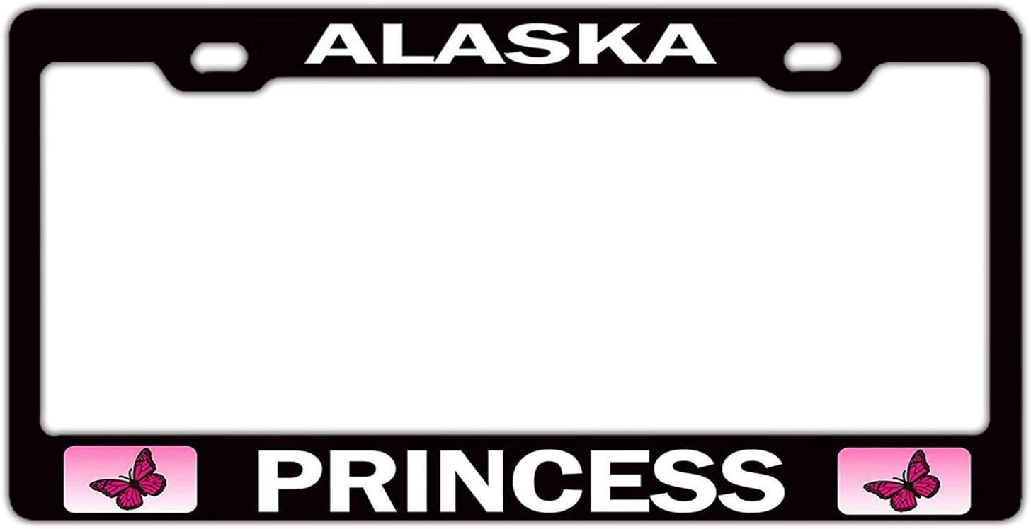 AHANGL License Plate Frame Max 69% OFF Alaska Recommended Princess Applicable t Girly 1