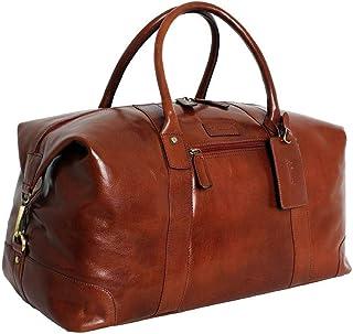 Ashwood Leather Mens Chelsea Veg Tan Harold Large Travel Holdall - Chestnut