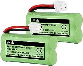 iMah BT183342 BT283342 BT166342 BT266342 BT162342 BT262342 Cordless Phone Battery Compatible with VTech CS6114 CS6409 CS6509 CS6709 CS6719 AT&T EL50003 EL50013 EL51103 EL51203 EL52100 EL52200, 2-Pack