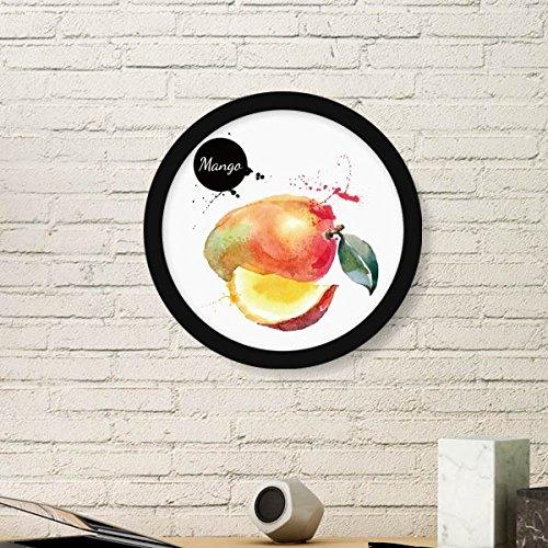 DIYthinker Manga Apple Fruit Tasty Watercolor Round Picture Frame Art...