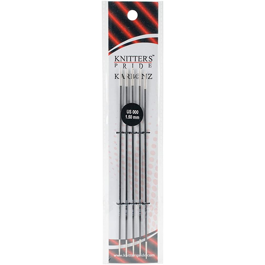 Knitter's Pride 000/1.5mm Karbonz Double Pointed Needles, 6